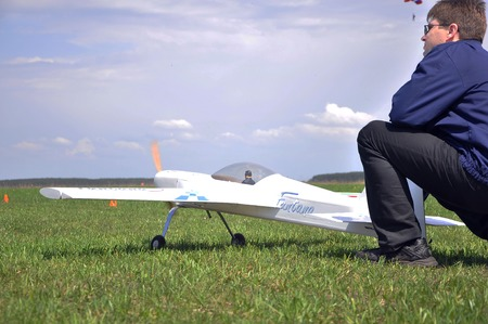 May 11, 2011 - the festival of aeromodelling at the airport in the town of Borodyanka, Kiev region. Ukraine