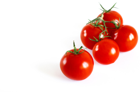 Tomatoes cherry branch isolated on white background Фото со стока - 123549703