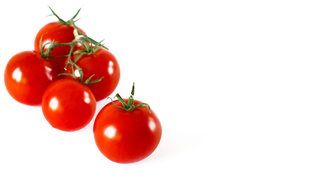 Tomatoes cherry branch isolated on white background Фото со стока - 123549704