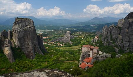 Meteora - a complex of monasteries, the second largest in size after Athos, located on the peaks of the Thessaly rocks, in the north of Greece, near the town of Kastraki
