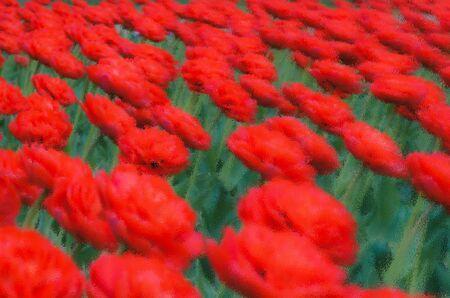 Juicy red-green summer background, defocused background. Background