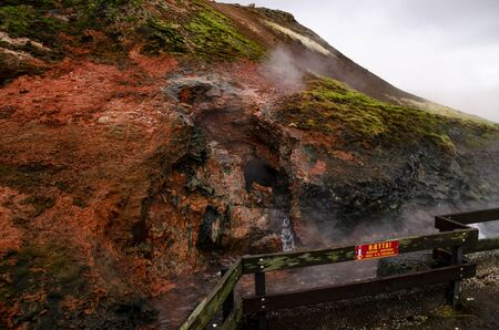 Clean geothermal energy escaped by geysers from the bowels of the earth in Iceland