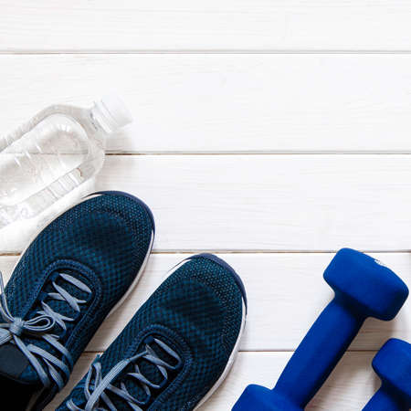 Fitness kit. Sports kit for a healthy lifestyle Stockfoto