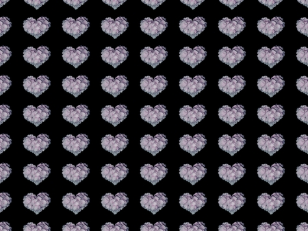 Black background with hearts Stock Photo