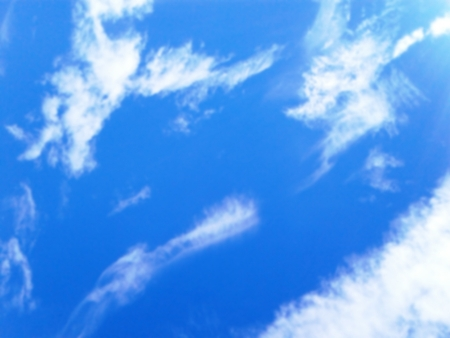Background of blue sky and clouds with a blur effect