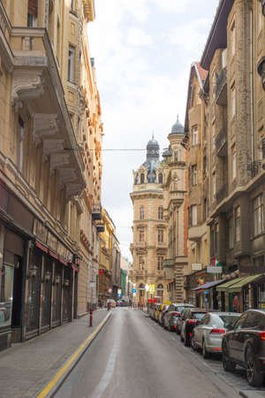 old narrow streets of Budapest