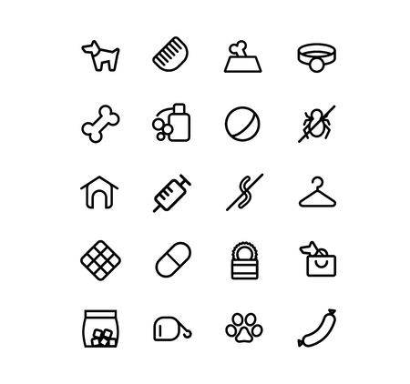 birdsong: Set of icons for Internet shops for dogs