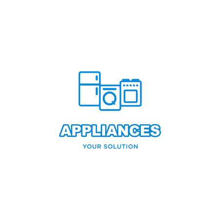 appliances: vector sign home appliances Illustration