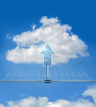 conection: cloud upload Stock Photo