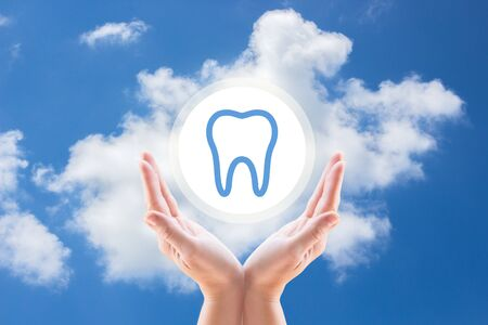 carious: support hands tooth, care of teeth, protect the teeth, support teeth, dental care, dental work