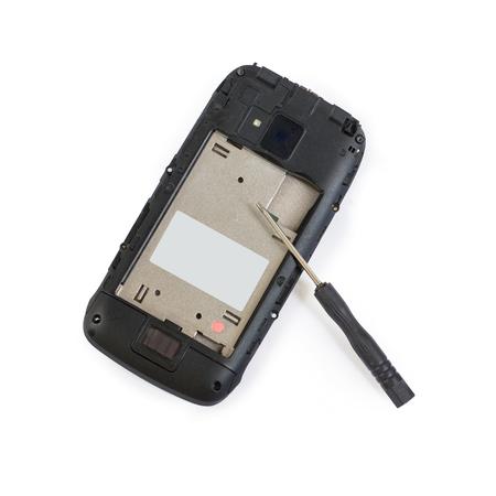 Disassembled mobile phone screwdriver repair phone