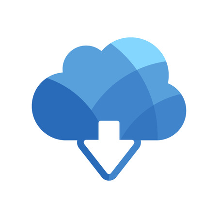 download cloud: Download cloud vector  icon Illustration