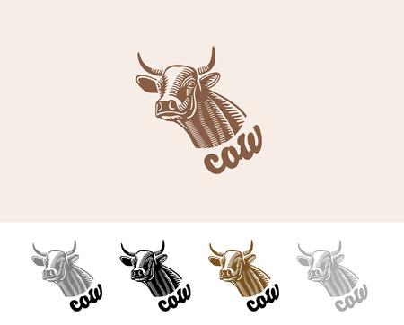 cow head: cow head vector gray, black, brown