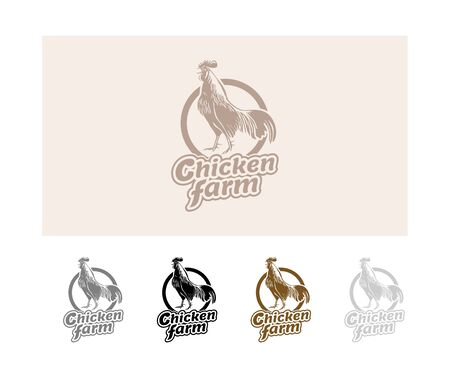 home products: Hand drawn hen. Vector for home business with products from chicken meat and eggs. Stock Photo