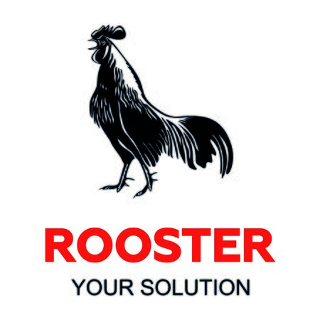 cries: the rooster cries and the sign of the rooster, vector
