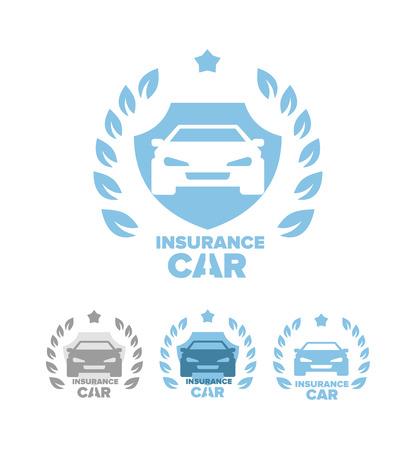 auto insurance: Set of  auto insurance, car insurance labels. Vector