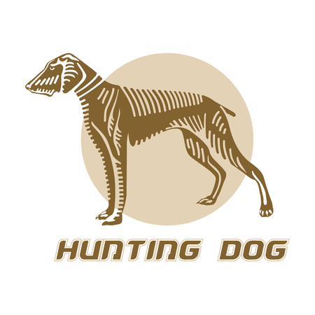 associated: Business logo associated with hunting. Vector, logo