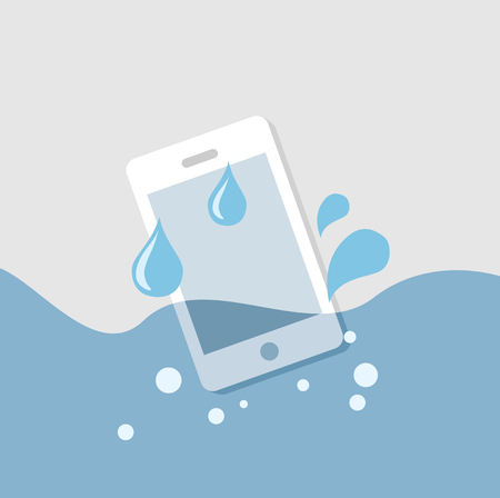 mobile in the water, vector