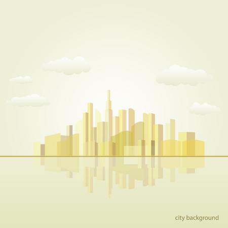 city background illustration, vector