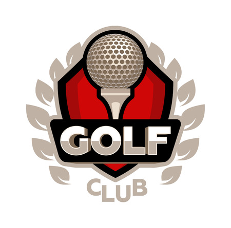 het logo Golfclub vector