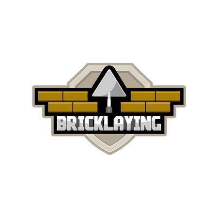 bricklaying company logo, vector Illustration