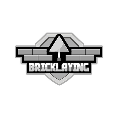 bricklaying: bricklaying logo for the group of workers, vector Illustration
