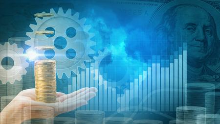 Profit background design concept Stock Photo