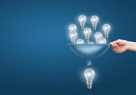 Muchas pequeñas ideas se suman a una gran. Foto de archivo