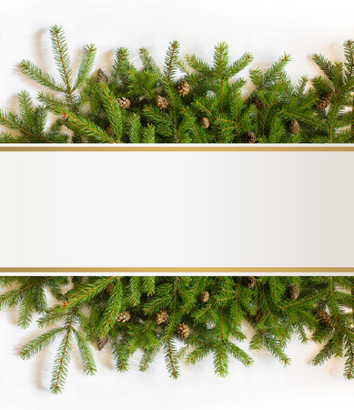 bedeck: Christmas tree branches
