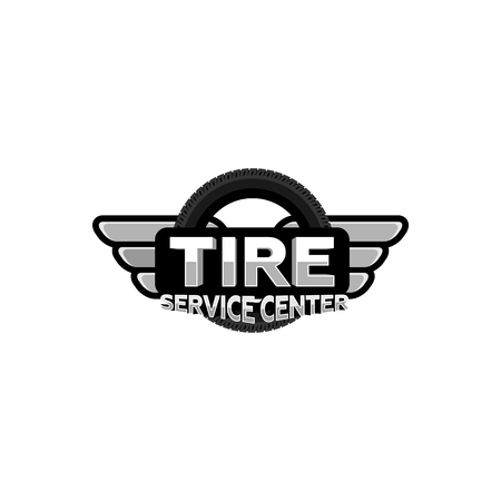 タイヤ サービス センターのロゴ、ベクトル