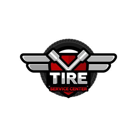 tire service center, vector Illustration