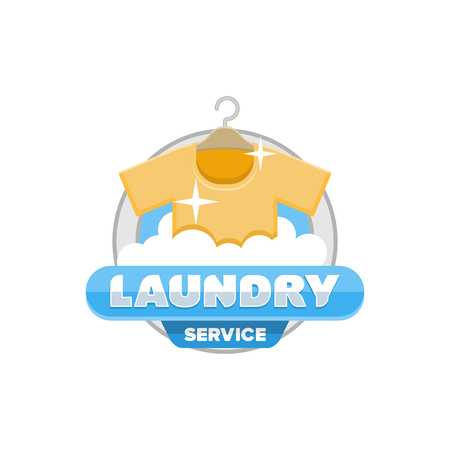laundry service logo, badge template