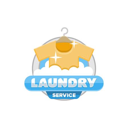 laundry service logo, badge template