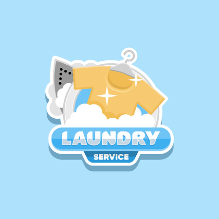 laundry service logo template
