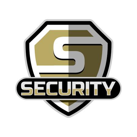 logotipo de la seguridad del vector plantilla de credencial