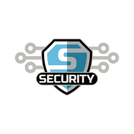 security logo: security logo icon emblem vector template