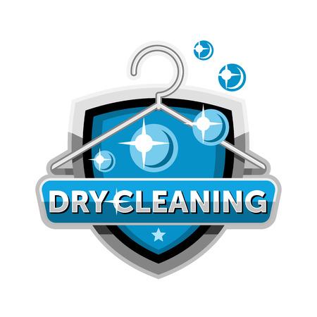 logo de nettoyage à sec modèle de badge emblème