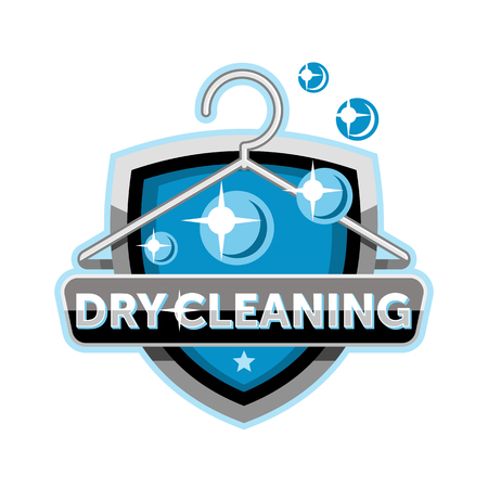 valet: Dry cleaning logo emblem icon template Illustration