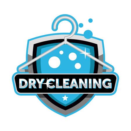 Trockenreinigung Logo-Emblem-Vorlage