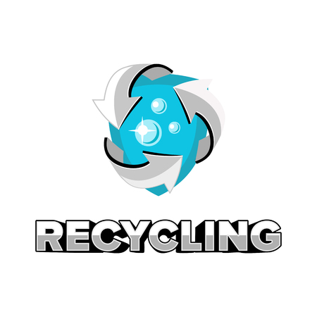 recycling logo: recycling logo emblem badge vector design Illustration