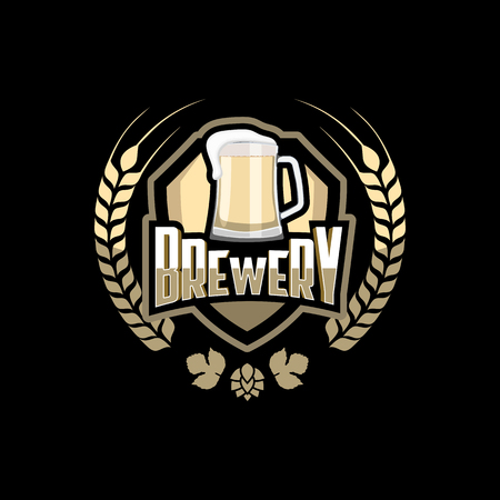 brewery: Brewery badge design vector