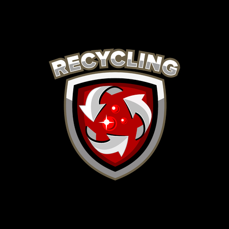 recycling: recycling factory logo emblem