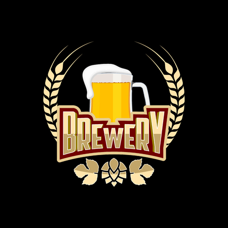 brewery: Brewery badge logo emblem design