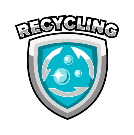 logo recyclage: logo de recyclage badge emblème vecteur