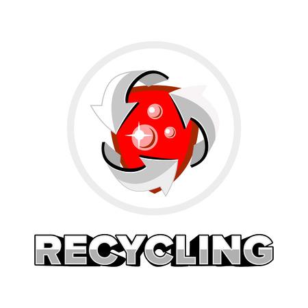 recycling logo: recycling logo emblem vector Illustration