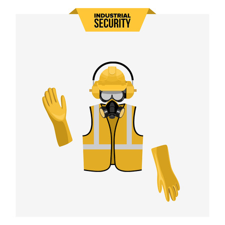 Safety work illustration design icons