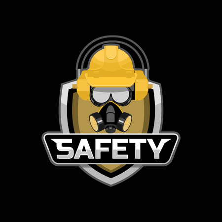 dangerous work: Safety work logo badge