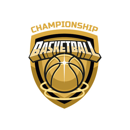 championship: basketball championship logo Illustration