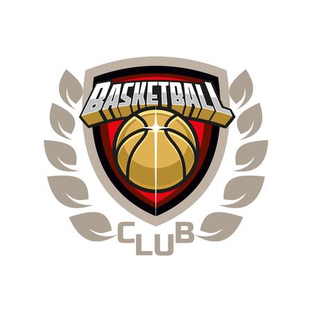 basketball club emblem design Vektorové ilustrace