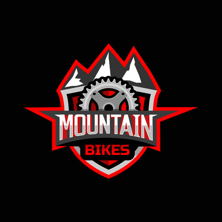 hiking trail: Mountain bikes badge logo